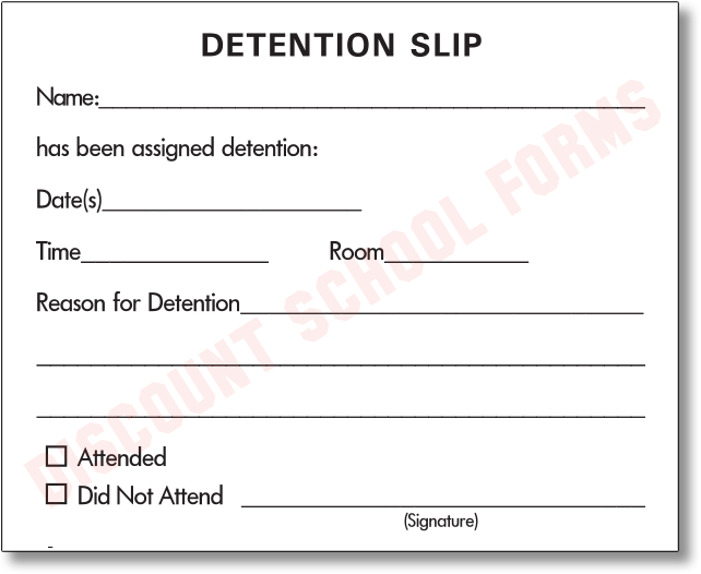 Detention slip 25 best memes about funny detention slip for Detention notice template