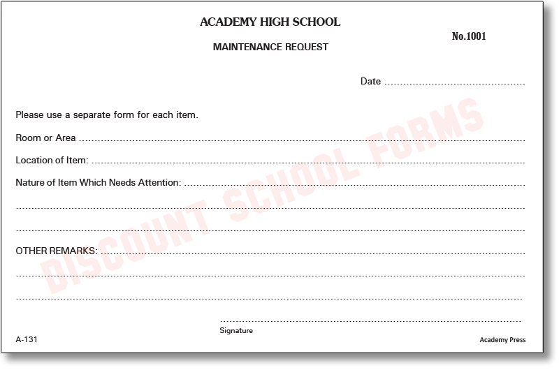 Good Discount School Forms