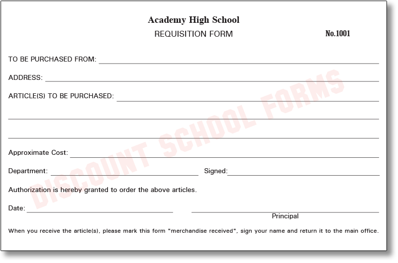 Requisition Form | School Forms